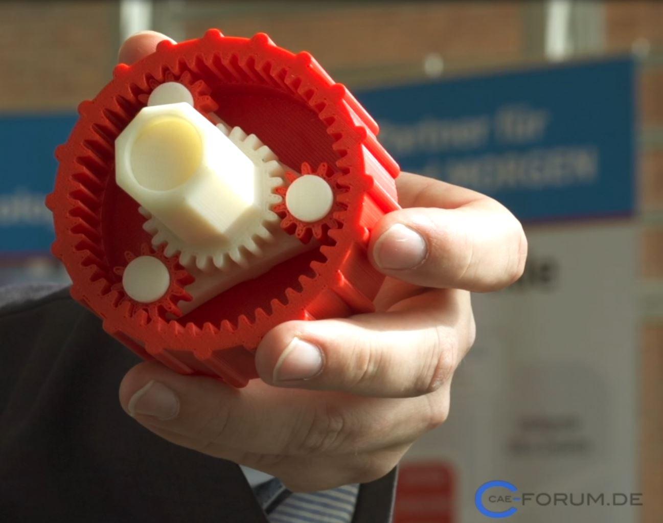 Getriebe hergestelt im 3D Druck Verfahren